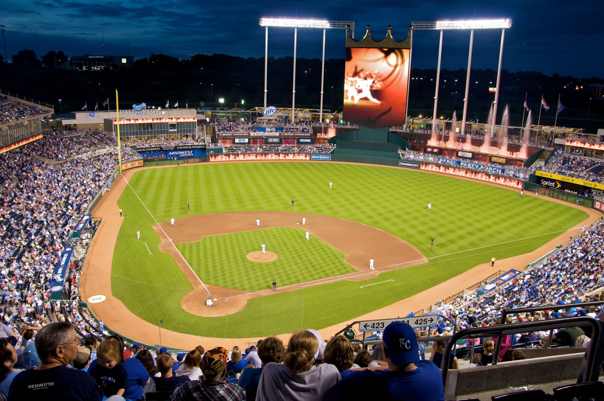 image of kauffman stadium